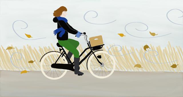 fietsen wind