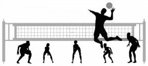 volleybal-silhouet