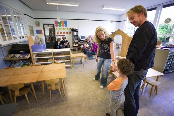 De eerste schooldag groep 1B van de Morskring Damlaan Leiden