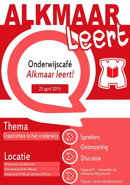 PosterAlkmaarLeert!23april2015
