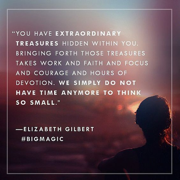 Elizabeth Gilbert big magic Jasja